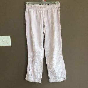 VS Pink White Stripe Pajama Bottoms Small Short